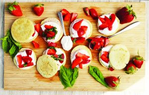 Cheap & Cheerful: Strawberry and Basil Shortcakes with Chantilly Cream