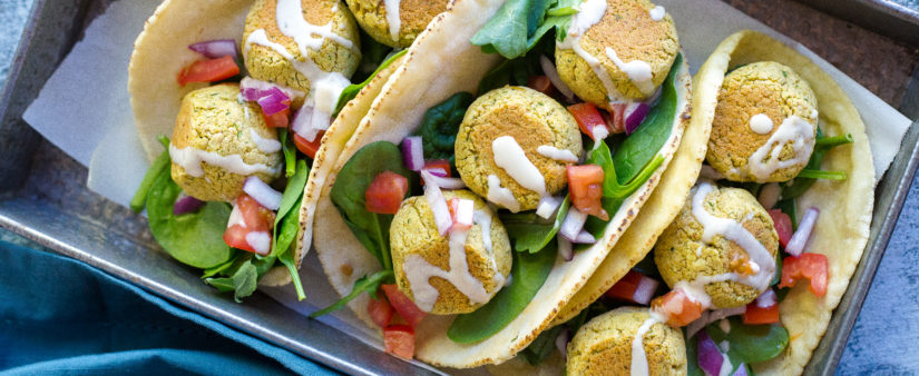 Baked Gluten-Free Falafel with Tahini Sauce
