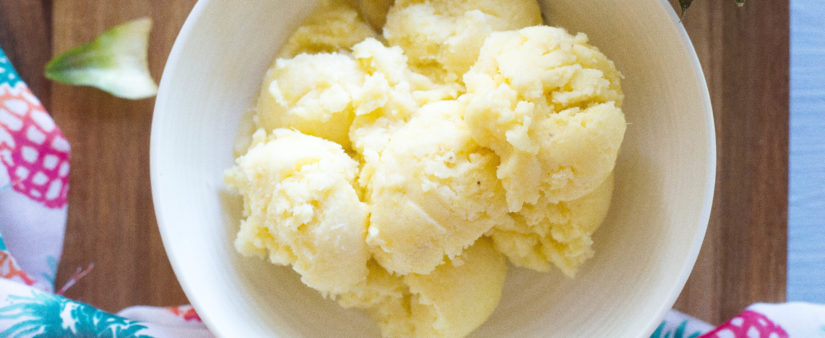 Easy Pineapple Banana Ice Cream