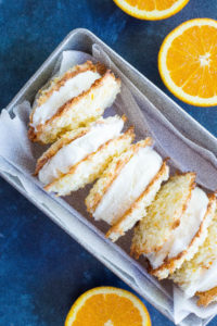 Orange Cream Macaron Ice Cream Sandwiches
