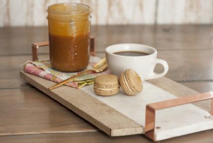 Gluten-Free Macarons: Salted Caramel Latte
