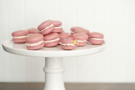 Gluten-Free Macarons: Strawberry Lemonade