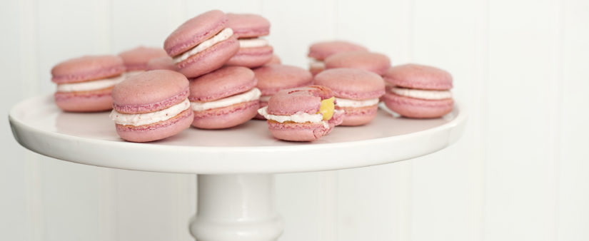 Gluten-Free Macarons: Strawberry Lemonade