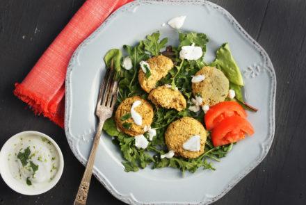 Cheap & Cheerful: Gluten-Free Falafels with Greek Yogurt Dip