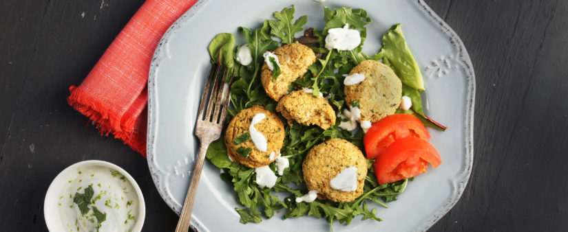 Cheap & Cheerful: Gluten-Free Falafels with Greek Yogurt Dip