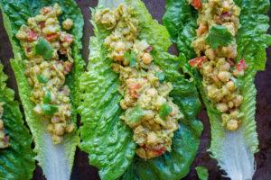 Chickpea Avocado Lettuce Wraps