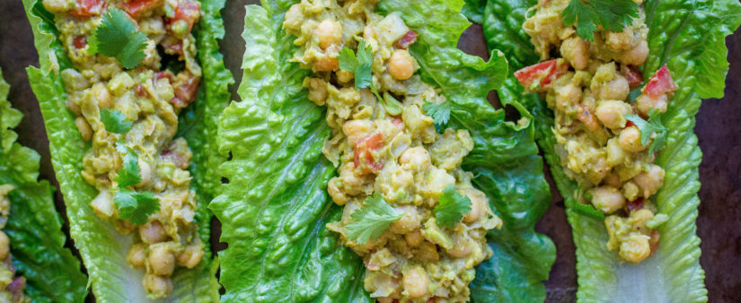 Chickpea Avocado Lettuce Wraps