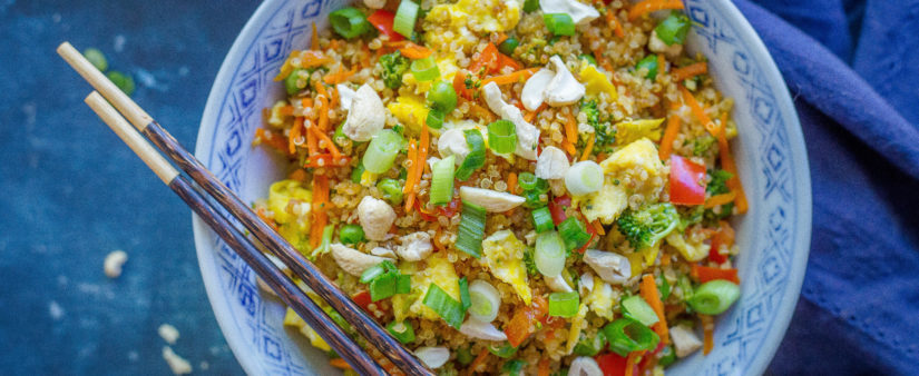 "Hearty Quinoa Fried ""Rice"""