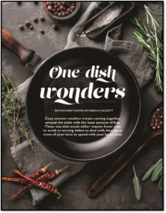 Pick up our current issue gluten free living magazine for One dish wonders recipes