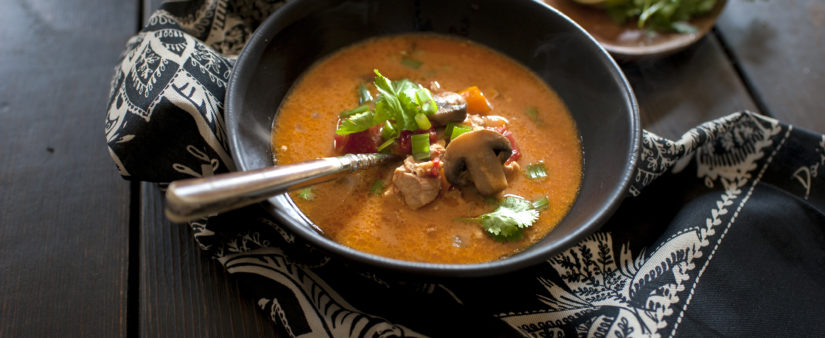 Thai-Inspired Creamy Chicken Soup