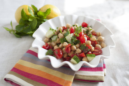 Mint and Chickpea Salad