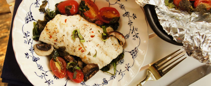 Fresh Fish Parcels With Cod and Veggies