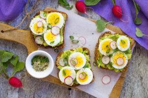 Smashed Avocado Toast with Hard-Boiled Eggs