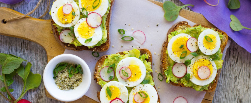 Smashed Avocado Toast with Hard-Boiled Eggs