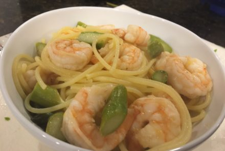Kids' Kitchen: Lemon and Butter Shrimp Pasta