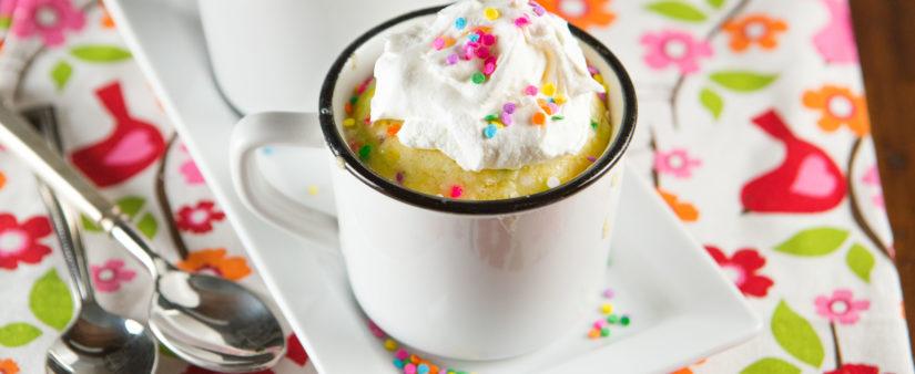 Confetti Mug Cake