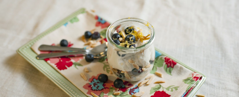 Dairy-Free Blueberry, Lemon and Almond Parfaits