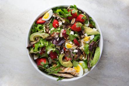 Strawberry and Chicken Salad with Lime Dressing