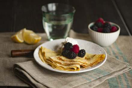 Grain-Free Gluten-Free Crêpes with Berries and Lemon