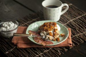 Peaches-and-Cream Breakfast Biscuits