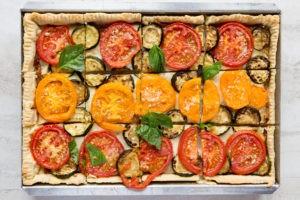 Tomato-Zucchini Slab Pie