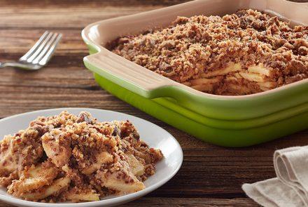 SPONSORED: Gluten Free Apple Crisp with Red Quinoa Streusel