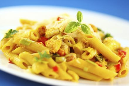 SPONSORED: Curry Pasta Chicken Salad