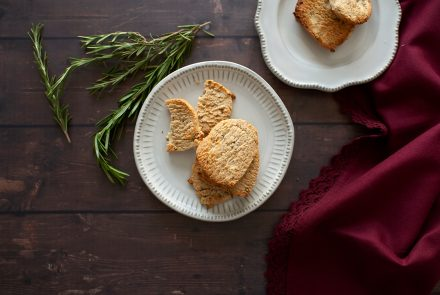 Savory Butter Shortbread Freezer Cookies
