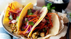 Vegan Tacos with Grilled Brussels Sprouts
