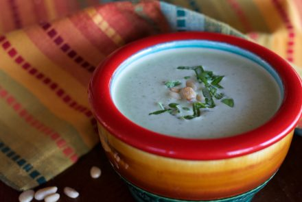 Creamy Pine Nut Pesto Soup