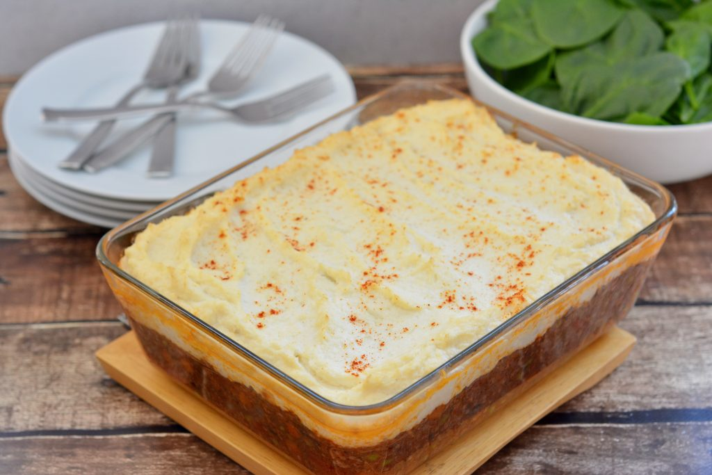 Shepherd's Pie with Cauliflower Topping
