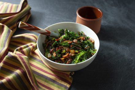Braised Kale with Bacon