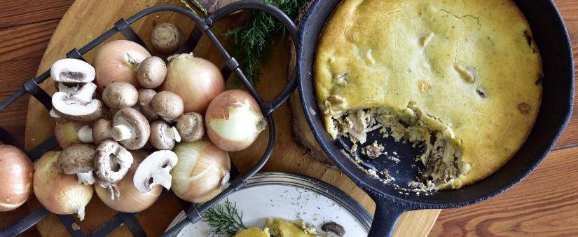 Chicken and Portobello Mushroom Pot Pie
