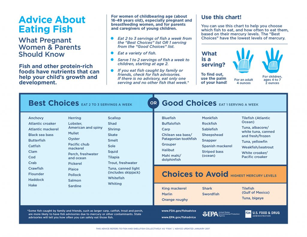 FDA Fish advice chart