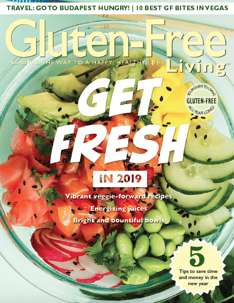 Gluten Free Living Jan/Feb 2019 Cover