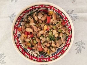 Tuna with White Beans, Celery and Peppers