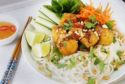 Spicy Lemongrass Tofu Vermicelli Bowl