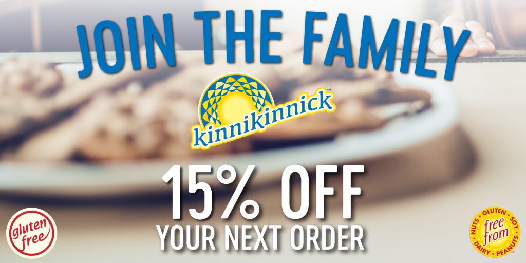 SPONSORED: 15% off Kinnikinnick Foods