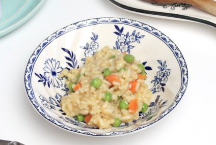 Easy Spring Pea & Carrot Risotto
