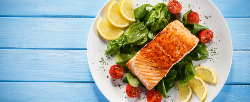 Roasted Wild Salmon with Warm Tomato Vinaigrette