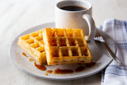 Light and Crispy Buttermilk Waffles