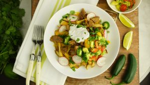 Healthy'd Up Carne Asada Fries with Avocado Salsa