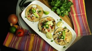 Shrimp Tacos with Fresh Cilantro and Lime