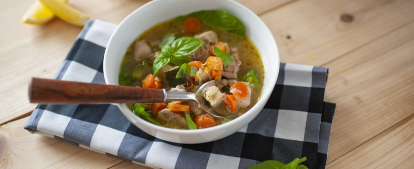 Spring Chicken and Vegetable Soup