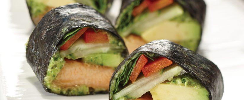 Smoked Salmon Nori Rolls