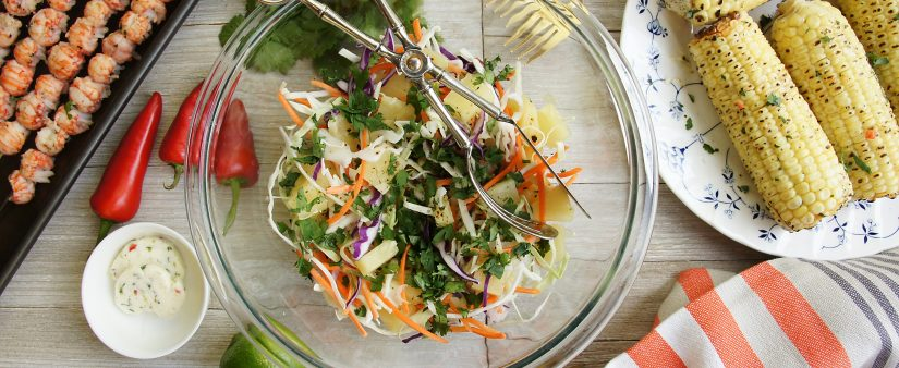 Refreshing Pineapple Cilantro Slaw