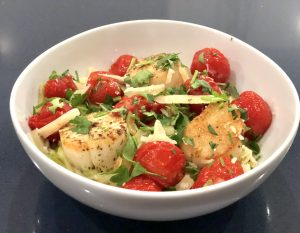 Zoodles with Seared Scallops