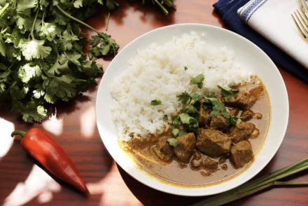Slow Cooker Beef Randang with Jasmine Rice