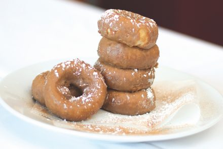 Apple Cider Donuts with Maple Icing
