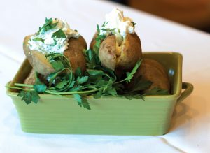 Baked Potatoes with Herbed Greek Yogurt